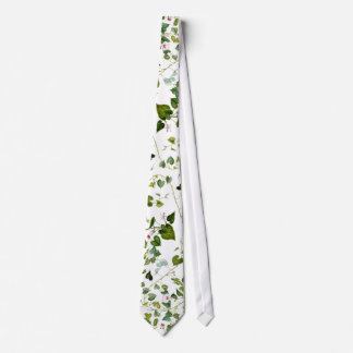 Morning Glory Floral Leaves Vine Botanical Tie