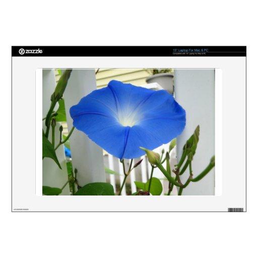 "Morning Glory Flower 15"" Laptop Skins"