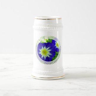 Morning Glory Flower Beer Stein Coffee Mugs