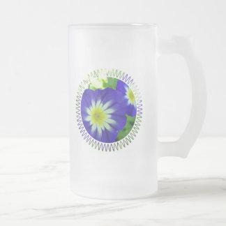 Morning Glory Flower Frosted Beer Mug