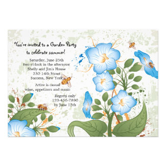 Morning Glory Flower Invitation