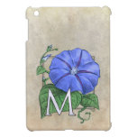 Morning Glory Flower Monogram iPad Mini Cover