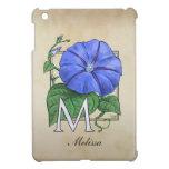 Morning Glory Flower Monogram iPad Mini Covers