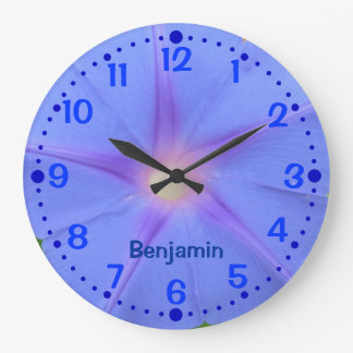 Morning Glory Flower Personalized Clock w/ Minutes