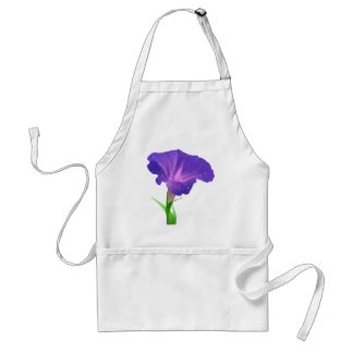 Morning Glory Flower Purple Adult Apron