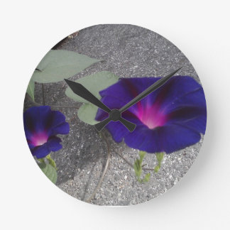 Morning Glory Flower Wall Clock