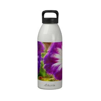 morning-glory flower reusable water bottles