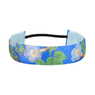 Morning Glory Flowers Floral Head Band
