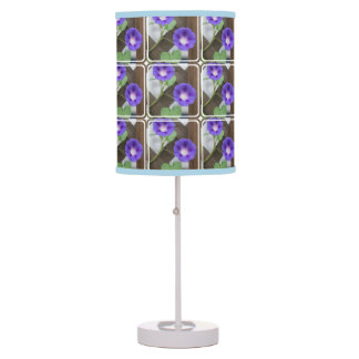 Morning Glory Flowers Table Lamp