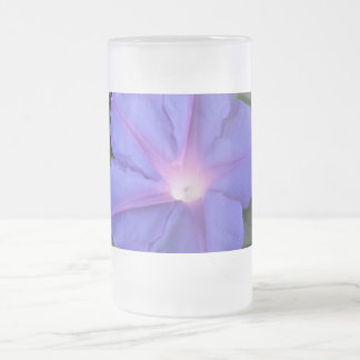 Morning Glory Frosted Glass Beer Mug