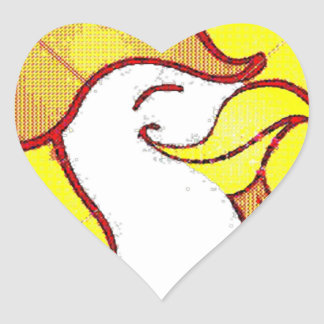 morning glory heart sticker