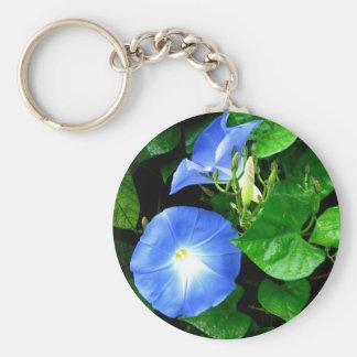 Morning Glory Heavenly Glue Basic Round Button Keychain