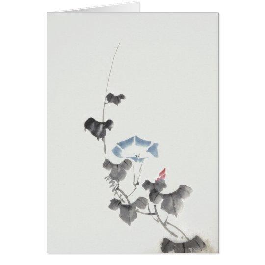 Morning Glory Hokusai Japanese Fine Art Card