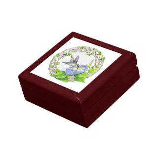 Morning Glory Hummingbird Keepsake or Jewelry Box