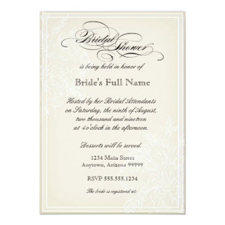 Morning Glory Hydrangea Bridal Shower Invitation