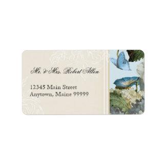 Morning Glory Hydrangea - Return Address Labels