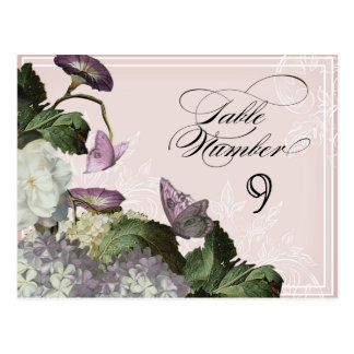 Morning Glory Hydrangea -  Table Seating Numbers Postcard