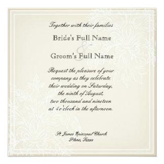 Morning Glory Hydrangea Wedding Invitation - Blue