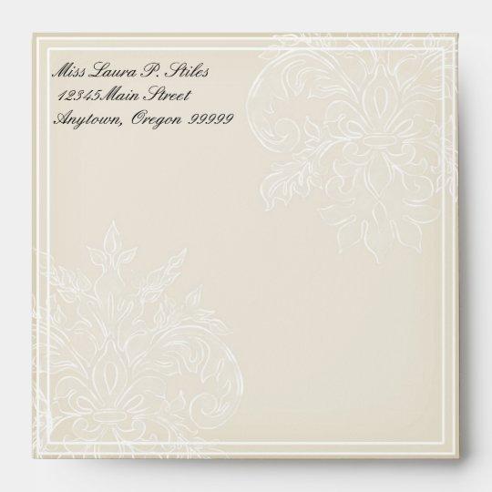 Morning Glory Hydrangea Wedding Matching Envelope