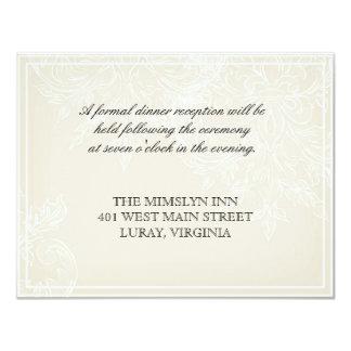 Morning Glory Hydrangea Wedding Reception Invite