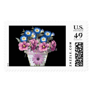 Morning Glory In A Flower Planter Stamps