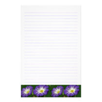 Morning Glory Lined Stationary Stationery