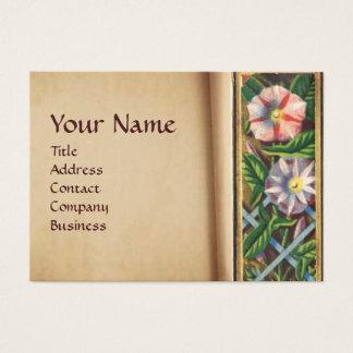MORNING GLORY MONOGRAM BUSINESS CARD