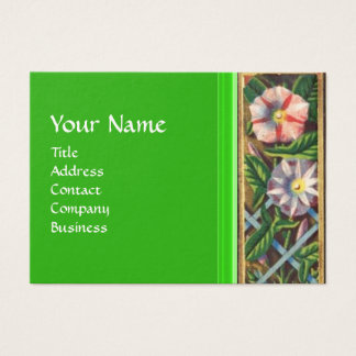 MORNING GLORY MONOGRAM BUSINESS CARD