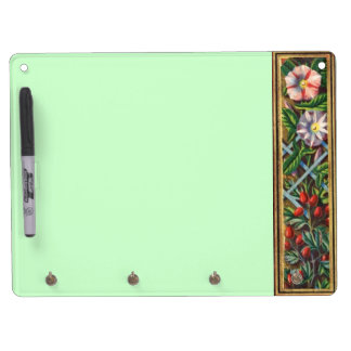 MORNING GLORY MONOGRAM DRY ERASE BOARD WITH KEYCHAIN HOLDER