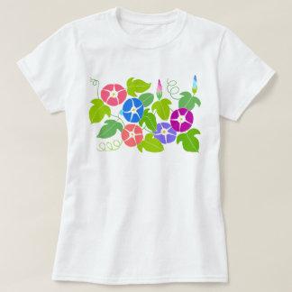 Morning Glory Pattern T-Shirt