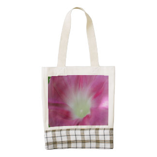 Morning Glory Pink Zazzle HEART Tote Bag