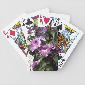 Morning glory bicycle playing cards