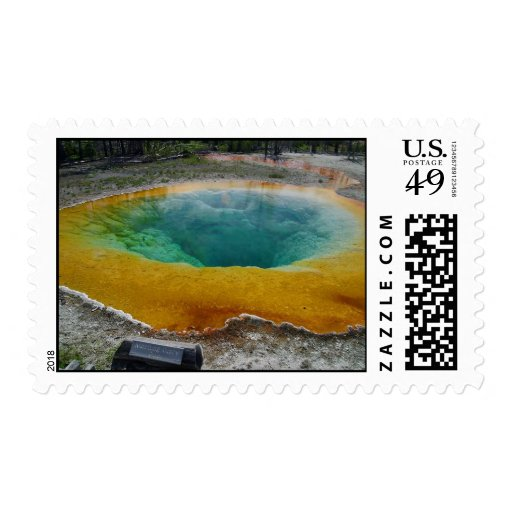 Morning Glory Pool Postage Stamps