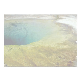 Morning Glory Pool, Upper Geyser Basin, Yellowston 5x7 Paper Invitation Card