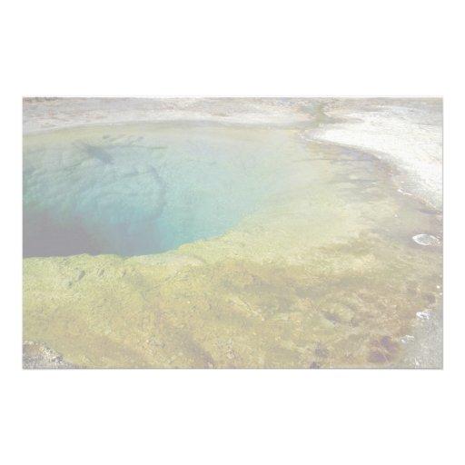 Morning Glory Pool, Upper Geyser Basin, Yellowston Personalized Stationery