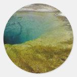 Morning Glory Pool, Upper Geyser Basin, Yellowston Round Sticker