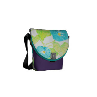 Morning Glory (Purple/Turquoise) Courier Bag
