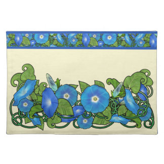 Morning Glory Scroll Placemat Cloth Place Mat