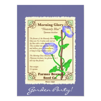 Morning Glory Seed Packet 5.5x7.5 Paper Invitation Card