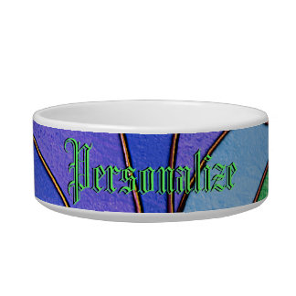 Morning Glory Stained Glass Look Pet Food Bowl
