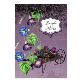 Morning Glory Summer RSVP Card Personalized Invitations
