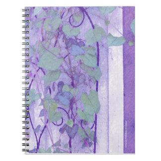 Morning Glory Trellis Purple Green Notebooks