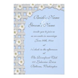 Morning Glory Trellis Wedding Invitation