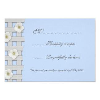 Morning Glory Trellis Wedding RSVP Card