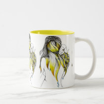 artsprojekt, morning, glory, drops, water, hair, long, white, drawing, inspiring, minimalism, patricia, vidour, fantasy, ink, simplicity, design, woman, femme, girl, decorating, clear, visual, accent, simple, illustration, magic, black, imaginary, magical, female, Mug with custom graphic design