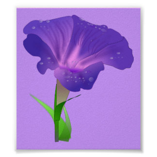 morning_glory_Vector_Clipart flowers Print