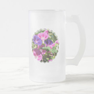 Morning Glory Vines Frosted Beer Mug