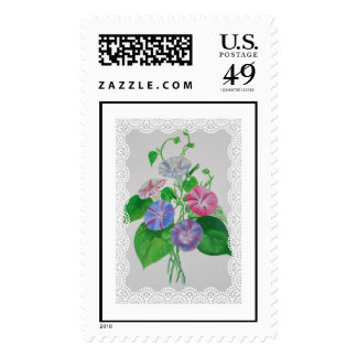 Morning Glory Vintage Bouquet Postage
