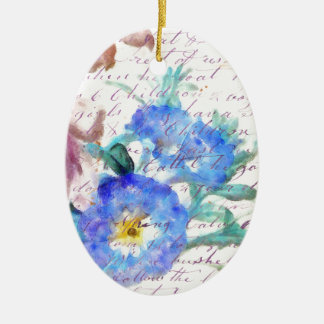 Morning Glory Vintage Ceramic Ornament