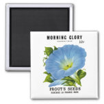 Morning Glory Vintage Seed Packet 2 Inch Square Magnet